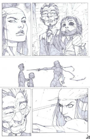 Savage Wolverine issue #7 page 18 (Pencil)