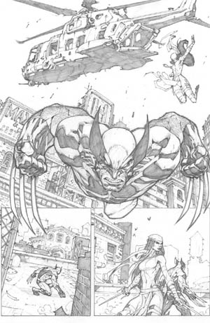 Savage Wolverine issue #7 page 2 (Pencil)