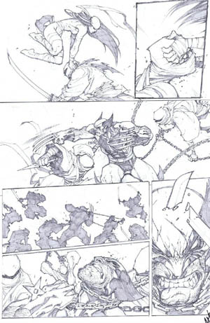 Savage Wolverine issue #7 page 4 (Pencil)
