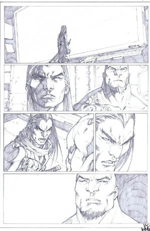 Savage Wolverine issue #7 page 6 (Pencil)