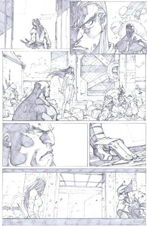 Savage Wolverine issue #7 page 7 (Pencil)