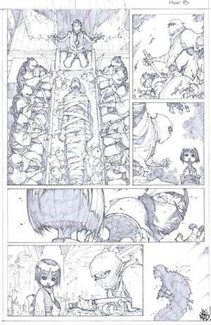 Savage Wolverine issue #7 page 8 (Pencil)
