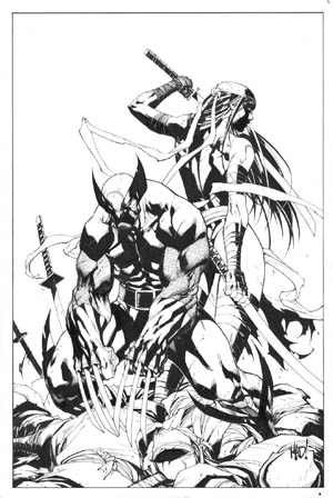 Savage Wolverine issue #8 cover (Ink)