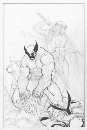 Savage Wolverine issue #8 cover (Sketch)