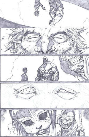 Savage Wolverine issue #8 page 1 (Pencil)