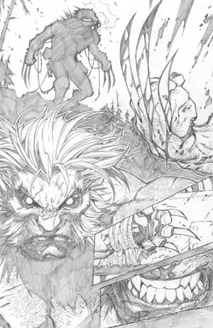 Savage Wolverine issue #8 page 7 (Pencil)