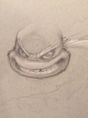 TMNT exploration Head Sketch