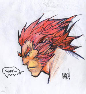 Lion-O turned into Wolverine cosplaying