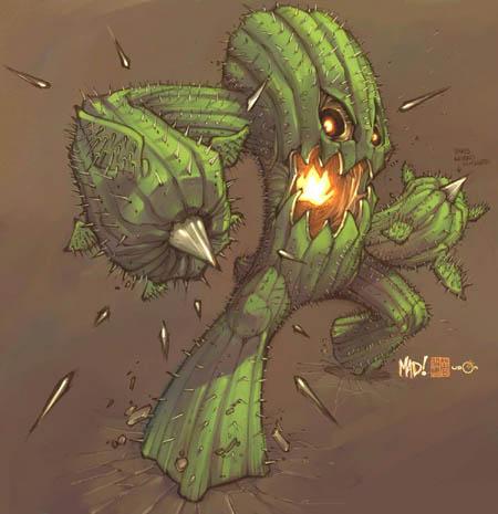 DragonKind cactus concept art (Color)