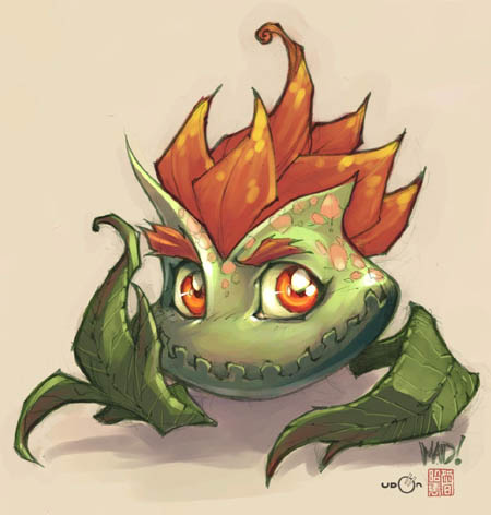 DragonKind Gleebulb concept art