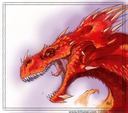DragonKind lava dragon concept art (Color)
