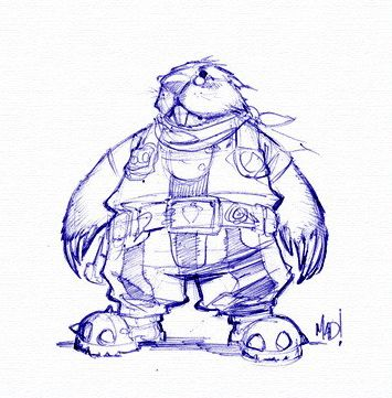 DragonKind mole man(?) concept art (Pencil)