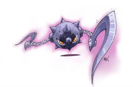 DragonKind morning star(?) monster concept art