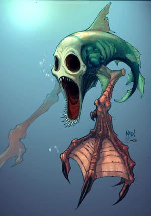 DragonKind Terrorfin concept art