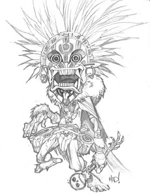 DragonKind voodoo mage concept art (Pencil)