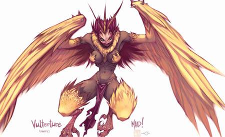 DragonKind vultorture (Harpy) concept art