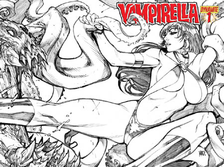 Vampirella #1 2010 series covers (Pencil)