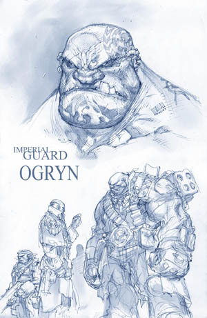 Imperial Guard Ogryn concept art (Unused)