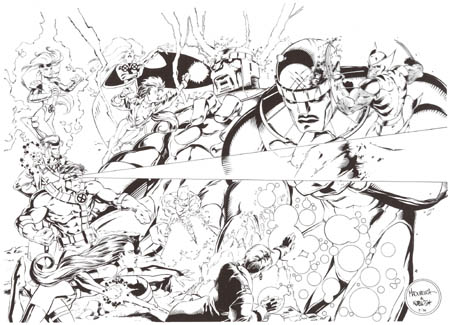 X-Men House ad 1994 (Ink)