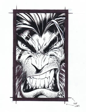 Age of apocalypse Wolverine business card (Ink)