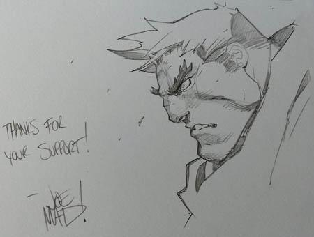 """Kickstarter Reward Garrison sketch for """"Bradym1"""" (Pencil)"""