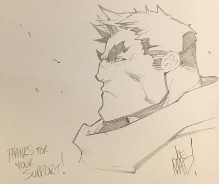 Kickstarter Reward Garrison sketch for Daniel Buck