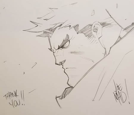 Kickstarter Reward Garrison sketch for Ruben Rosas (Pencil)