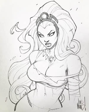 Kickstarter backer reward X-men Storm  commission