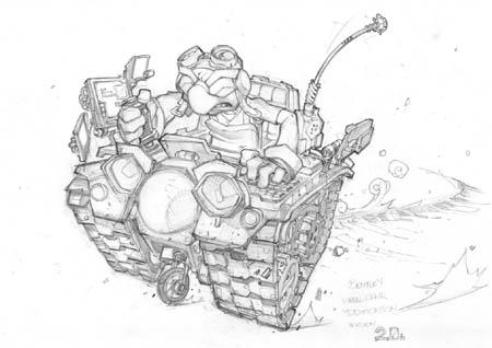Bentley in wheelchair modification V2 concept art