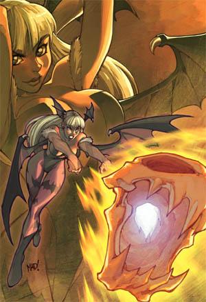 Darkstalkers #1 Morrigan variant cover