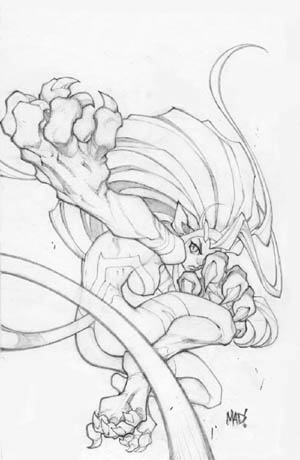 Darkstalkers #3 Felicia variant cover (Pencil)