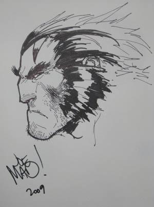 E3 2009 Age of Apocalypse Wolverine sketch (Sketch)