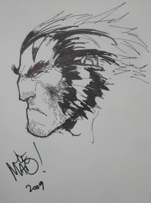 E3 2009 Age of Apocalypse Wolverine sketch