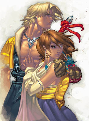 Final Fantasy X PSM Magazine #43 Tidus and Yuna
