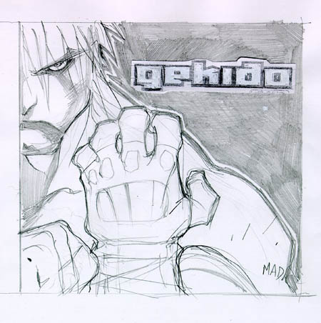 Gekido game Travis sketch