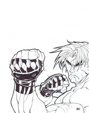 Gekido game playstation cover (Ink)