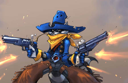 Gunslinger Sly Cooper concept art (Color)