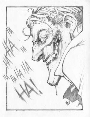 Joker art for kickstarter backer Jared Smith