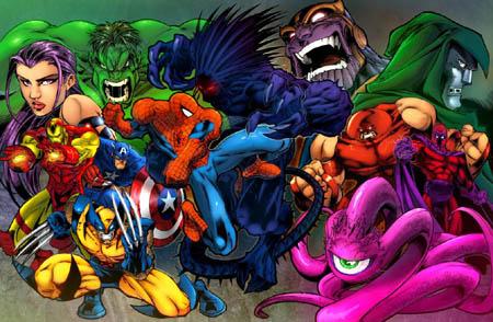 Marvel Super Heroes capcom video game cover (Color)