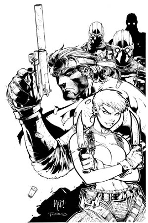 Metal Gear Solid 2 PSM Magazine #36 cover (August 2000) (Ink)