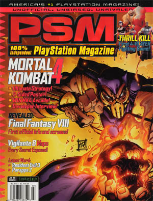 Mortal Kombat 4 PSM Magazine #11 Sorpion cover (CoverA)