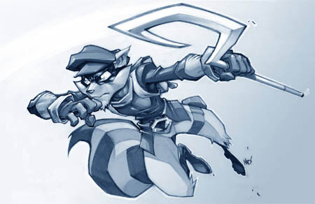 Sly Cooper in action concept art (Texture)