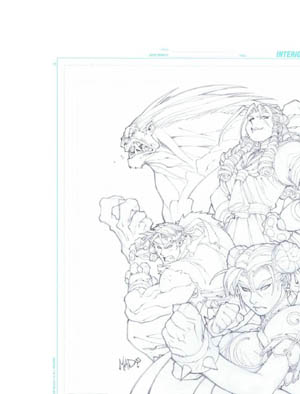 Street fighter alpha 3 PSM cover (Pencil)