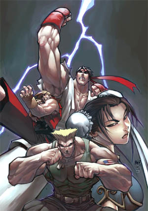 Street Fighter vol 1 issue #0 & #1 cover (Other)