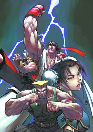 Street Fighter vol 1 issue #0 & #1 cover (Color)