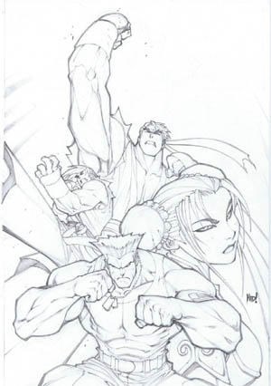 Street Fighter vol 1 issue #0 & #1 cover (Pencil)