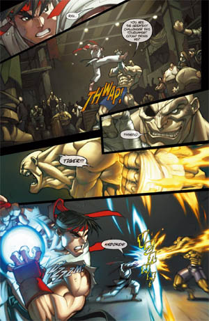 Street Fighter special backup Story page 1/4  (Color)