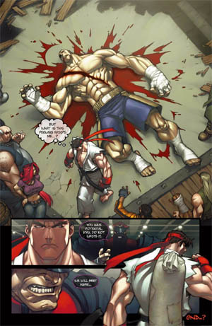 Street Fighter special backup Story page 4/4  (Color)