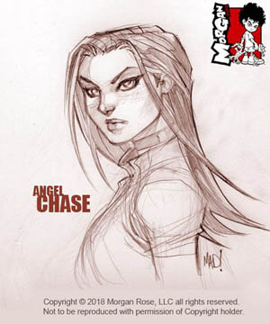 The Iron Saint Angel Chase face sketch