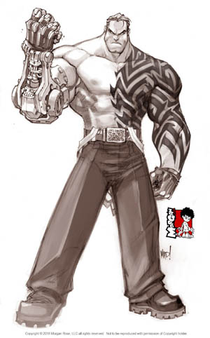 The Iron Saint Mickael Iron cover art (Sketch)